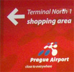 Shopping Area at Prague Airport